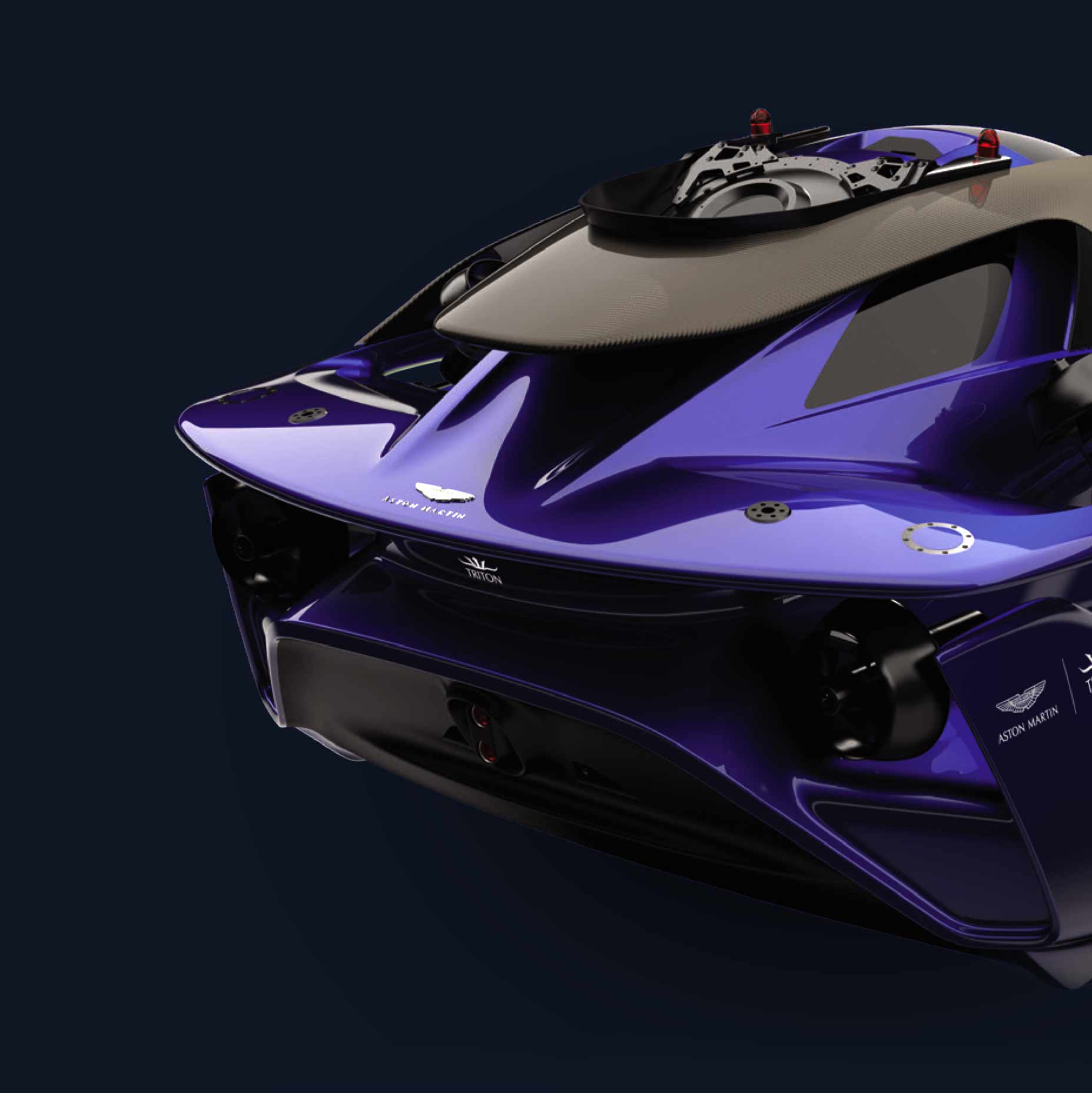 Project Neptune's aft-end with signature Aston Martin rear-diffuser and spoiler-like design