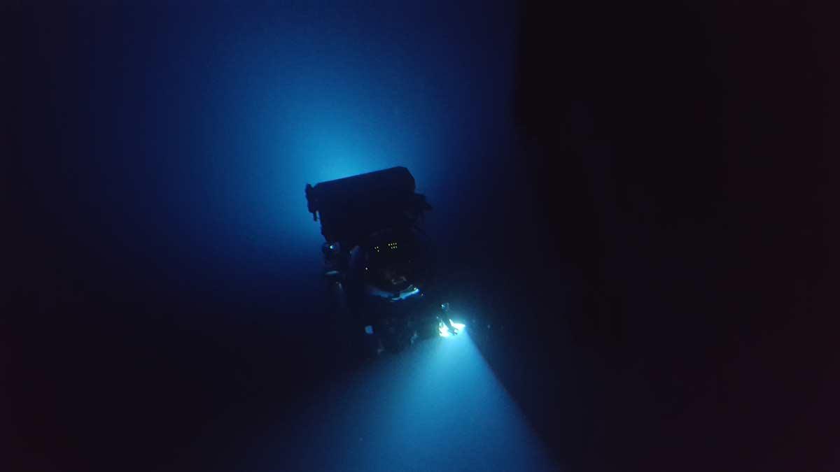 Triton 3300/1 diving into the dark
