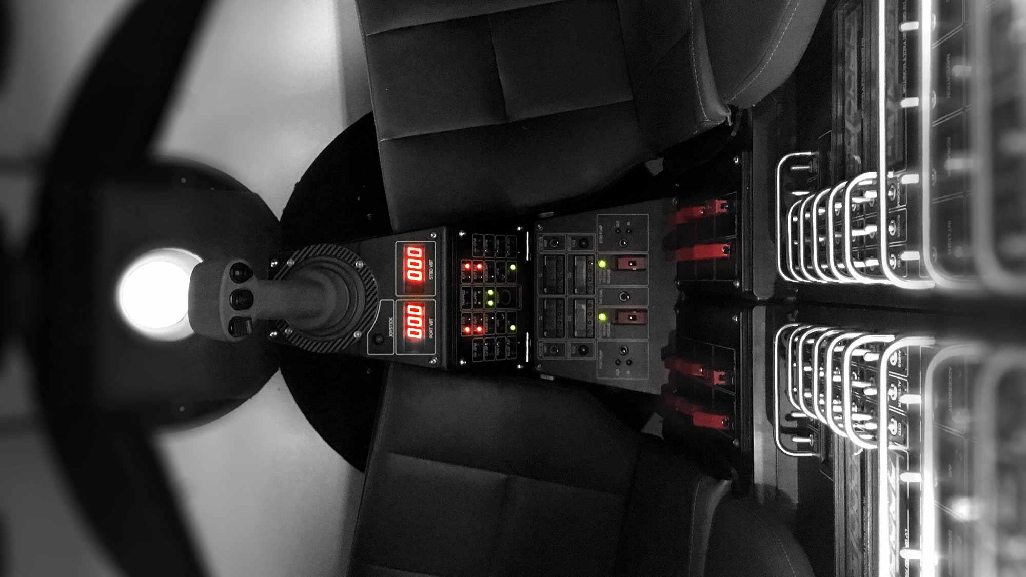 Interior of Triton Full Ocean Depth submersible