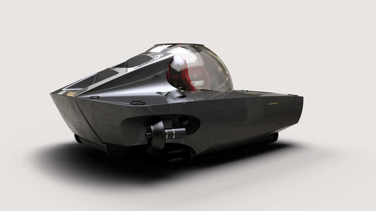 Triton 660/2 in grey with red interior