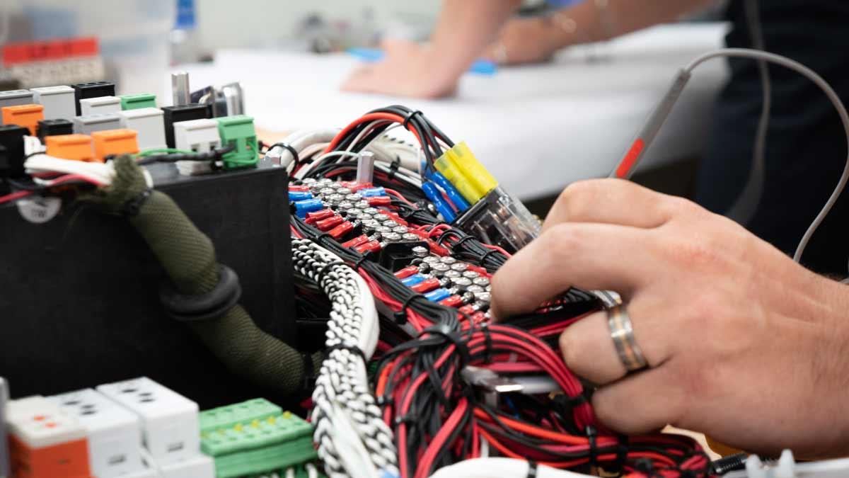 Closeup of Elecrtrical engineering work