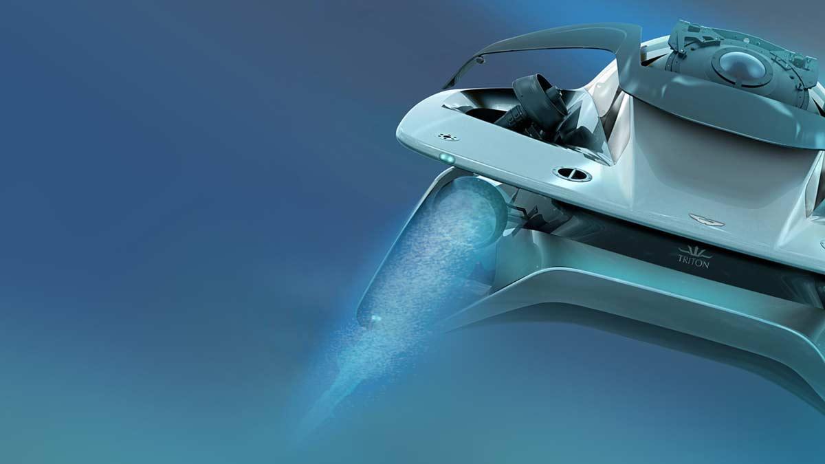 Triton & Aston Martin's Project Neptune, pictured at concept stage.