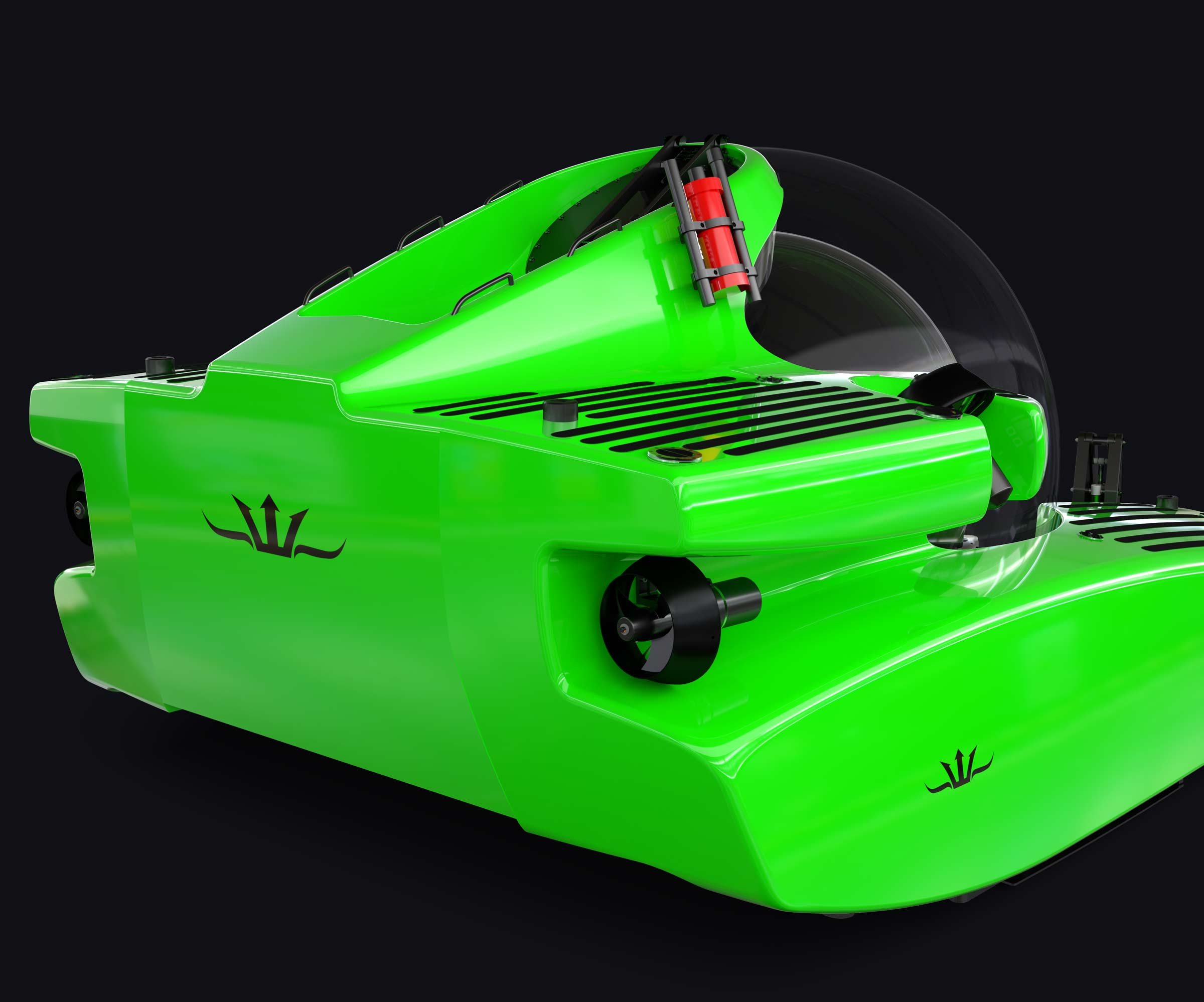 Rear design of Triton 7500/3