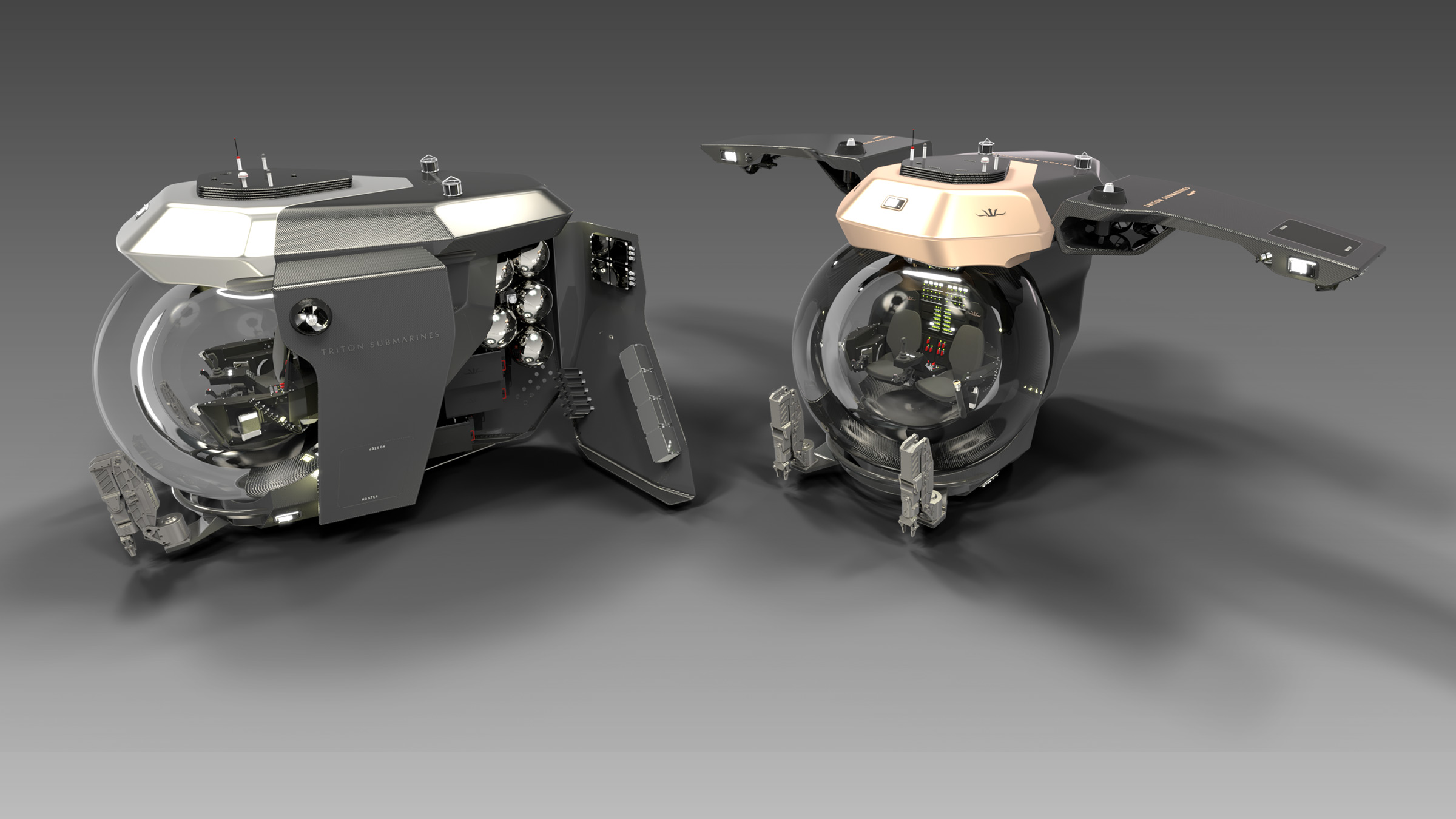 Twin Triton Gull Wing submersibles