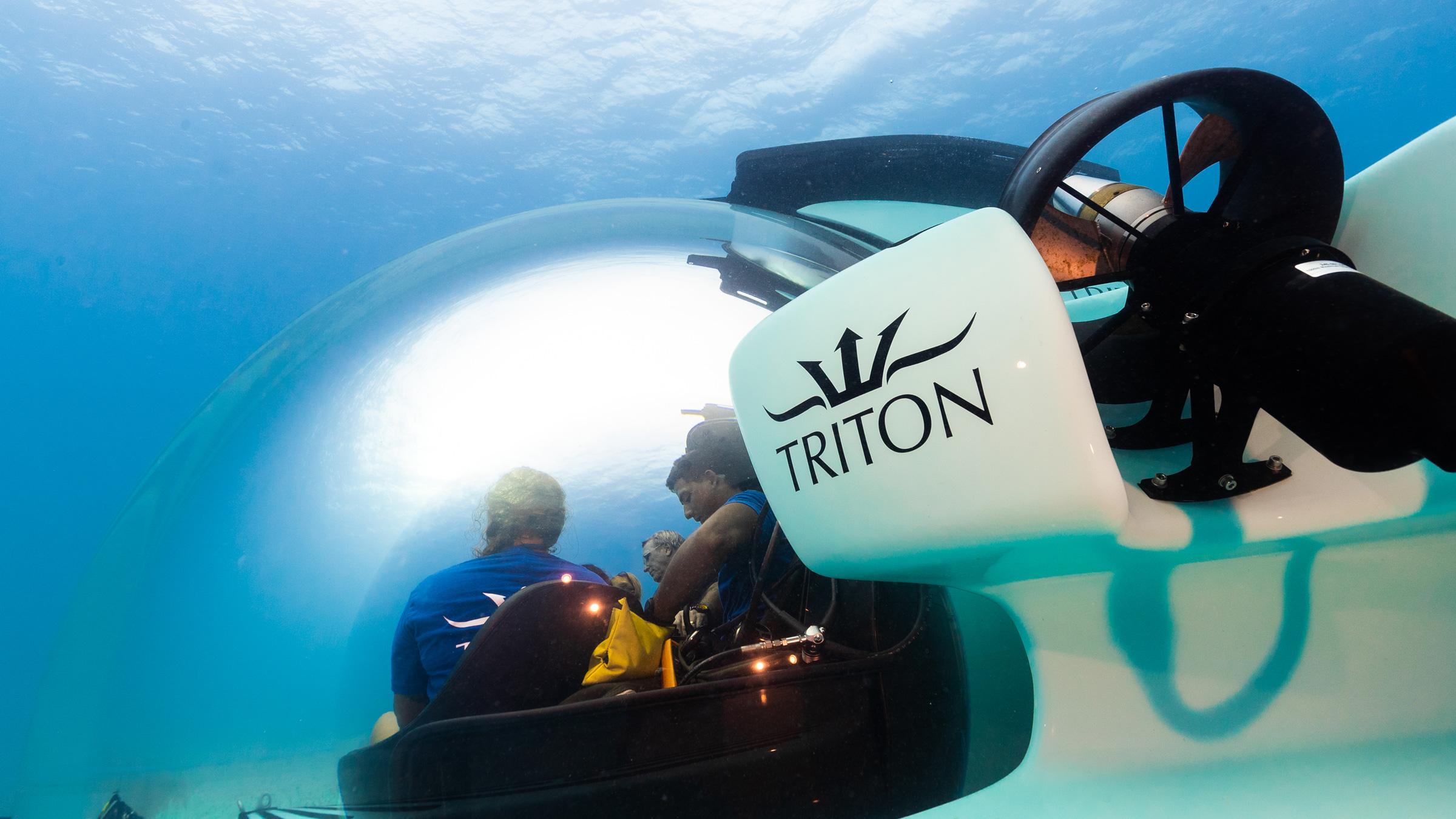 Triton 3300/6 Underwater. View of Port thruster