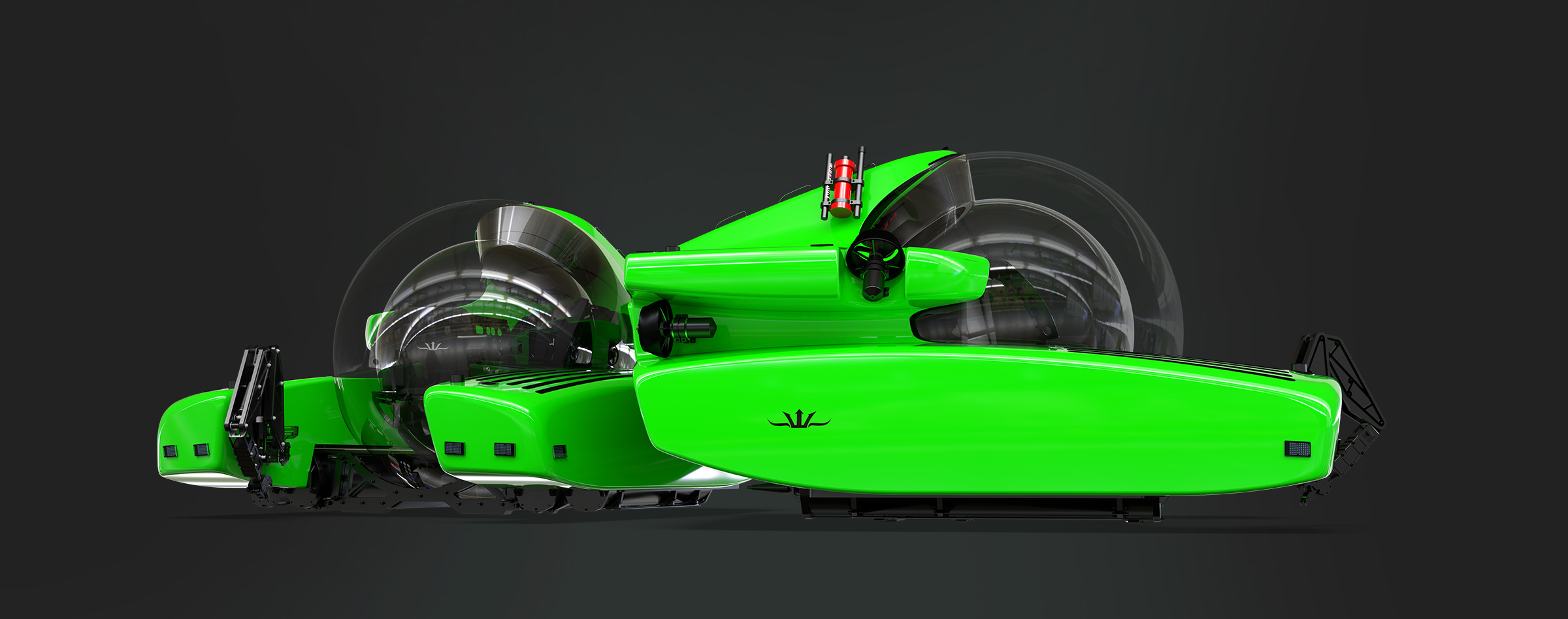 Triton 7500/3 submersible in electric green